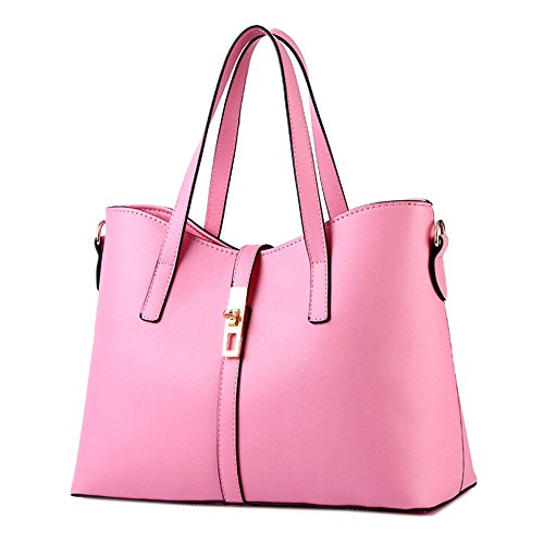 Bag DELEY Pink Ladies Women Office Shoulder Handbag Tote Fashion Briefcase Shopper Xf71wnfqOx