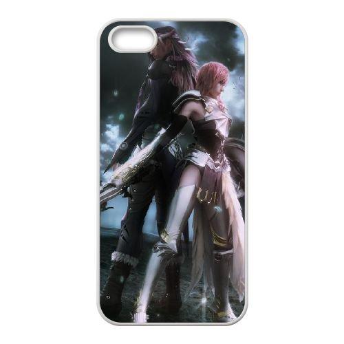 Final Fantasy 006 coque iPhone 5 5S Housse Blanc téléphone portable couverture de cas coque EOKXLLNCD11243