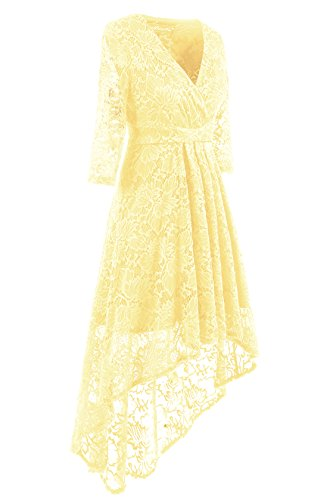 Lace Adodress Retro Champagner Floral Cocktail Sleeve Vintage Dresses Formal Cap Party Prom Short 2017 Dresses Swing Women's Dress 1 rvxTrwY