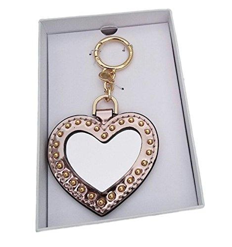 Michael Kors Heart Mirror Key Fob Bag Charm Pink Ballet