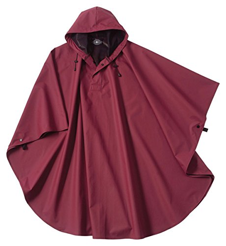 - Charles River Apparel Pacific Rain Poncho, Maroon, One Size