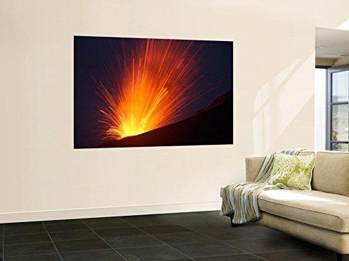 Vulcanian Eruption of Anak Krakatau Volcano, Sunda Strait, Java, Indonesia Wall Mural by Stocktrek Images 48 x 72in by STOCKTREK IMAGES POD