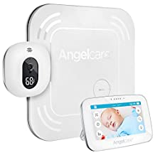 "Angelcare Baby Movement Monitor with 4.3"" Touchscreen Display and Wireless Sensor Pad, White"