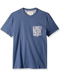 Men's Short Sleeve Burger Print Pocket Tee