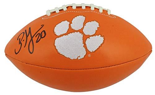 Clemson Brian Dawkins Authentic Signed Orange Panel Logo Football BAS Witnessed