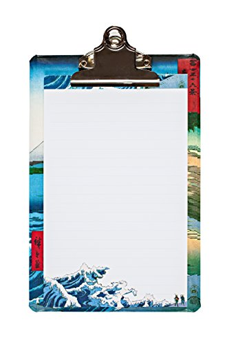 """Price comparison product image Hiroshige Mini Clipboard,  6 x 9"""" clipboard with coordinating notepad"""
