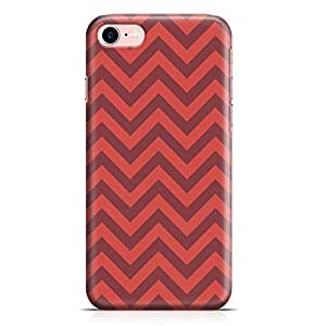 Loud Universe iPhone 8 Case Lovely Red Chevron Pattern Sleek Modern Design Wrap Around iPhone 8 Cover