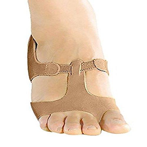 Modern Dance Foot Thong / Halbsohle Lyrische Sandale in Wildleder Bräunen