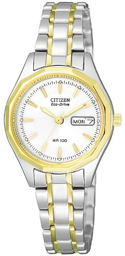 Citizen Eco-Drive Two-Tone Ladies Watch EW3144-51A