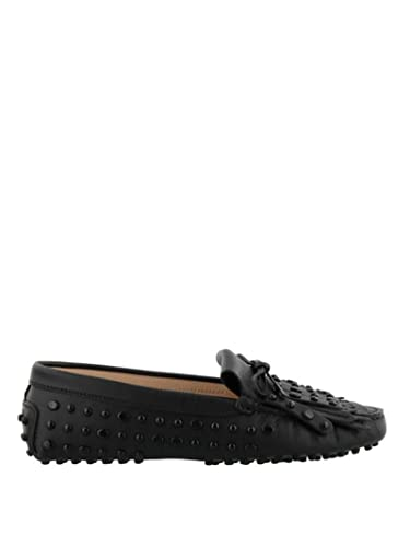 f1810ab0f58c2 Amazon.com | Tod's Women's XXW00G0Z620NB5B999 Black Leather Loafers |  Loafers & Slip-Ons