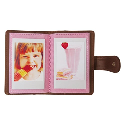 Rose Fuji Instax Soft Cover Pocket Photo Album x Instax Mini 8 /7s /50s/ Polaroid Mio & 300 Instant Cameras
