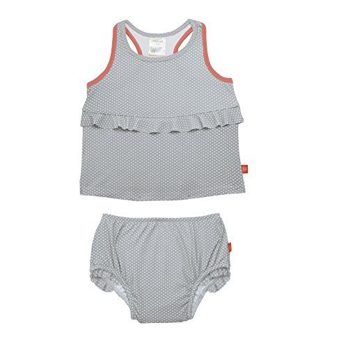 Lassig 2pc Tankini Set - Polka Dots grey 24 mo. by Lassig