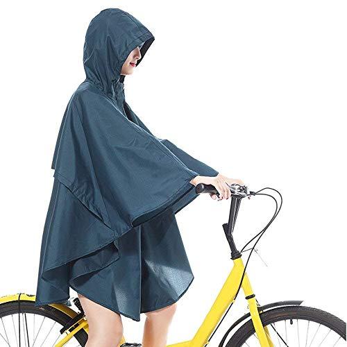 Donna Moda Piumino Con Bicicletta Blau Giacche Impermeabile Mode Cappuccio Da Marca Pioggia Di Poncho n4rIqtvgr