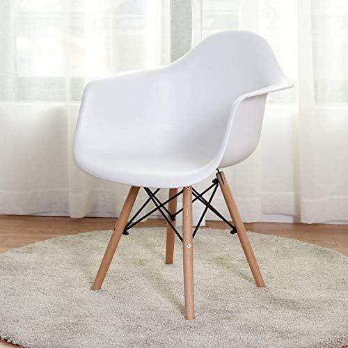 DBL Accueil Chaise salle à manger en plastique avec Crafted De Jambes en bois, également en tant que président de côté for toute pièce de la maison ou le bureau Chaises de bureau