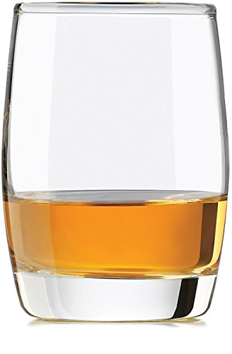 Circleware Heavy Base Scotch Whiskey Glass Drinking Glasses, Set of 4, Entertainment Dinnerware Glassware for Water, Juice, Beer & Bar Liquor Dining Decor Beverage Cups Gifts, 12 oz, Glen Rocks by Circleware