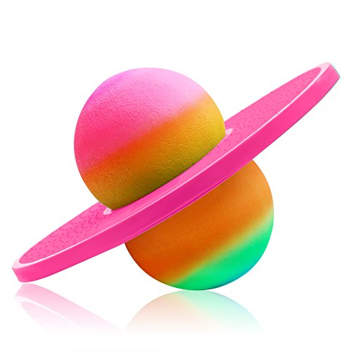 ZYAQ Colorful Hopper Balance Pogo Jumping Exercise Bounce Space Fitness Ball for Kids Adults -