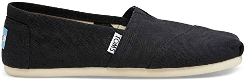 - TOMS Women's Canvas Slip-On,Black,5.5 M