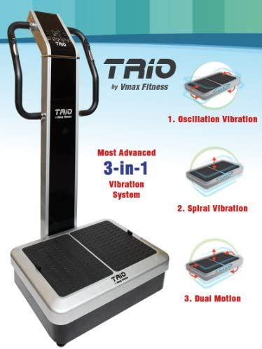 Vmax Fitness TRIO Whole Body Vibration Machine DUAL vibration