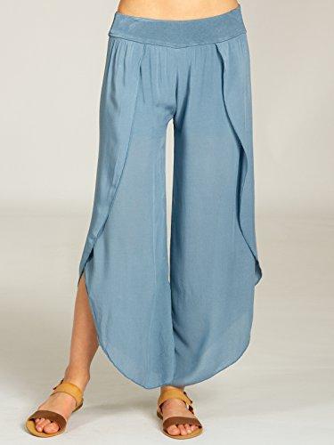 Donna A Jeans Estivi Palazzo Caspar Pantaloni Blu Eleganti Khs047 U1qxPgwP5