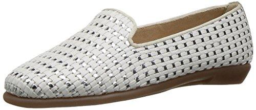 Aerosoles Women's Betunia Slip-On Loafer, White, 7.5 M US