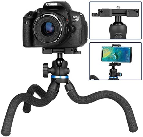 MeterMall for UlanziFlexible Octopus Tripod Stand for DSLR SLR Compact Digital Cameras
