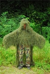 Ghillie Poncho Leafy Green - Military STALKER Ghillie Poncho Synthetic Suit - Leafy Green