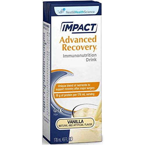Impact Recovery - Nestle Impact Advanced Recovery Vanilla Immunonutrition Drink, 178 Fluid Ounce - 15 per case.