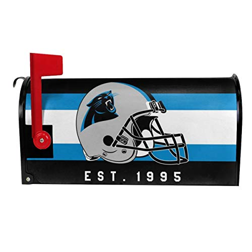 Gdcover Custom Carolina Panthers Garden Magnetic Mailbox Cover for Outdoor Decor