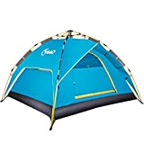 Family Camping Tents Automatic Hydraulic Instant Tent Pop Up 210T PU Protection Easy Set Up Dome Tent Waterproof Sun Shelter Fiberglass Frame for Outdoor Rainproof Backpacking Hiking W/Carry Bag
