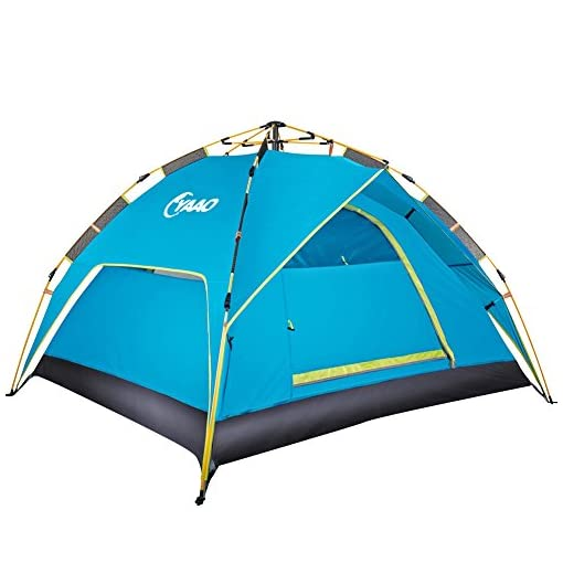 Family-Camping-Tents-Automatic-Hydraulic-Instant-Tent-Pop-Up-210T-PU-Protection-Easy-Set-Up-Dome-Tent-Waterproof-Sun-Shelter-Fiberglass-Frame-for-Outdoor-Rainproof-Backpacking-Hiking-WCarry-Bag