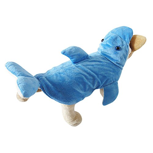 [OMEM Three-dimensional dolphin Halloween costumes, Christmas dress knitted soft winter thick sponge hair fin design (S,] (Cat Doesnt Like Halloween Costume)