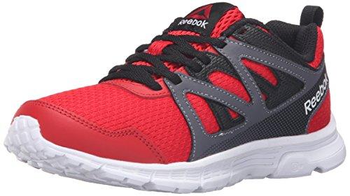 Reebok Run Supreme 2.0 Track Shoe (Little Kid/Big Kid), Motor Red/Black/Ash Grey, 3.5 M US Big Kid by Reebok