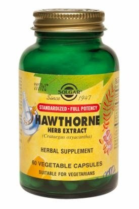 Hawthorne Berry Extract - Solgar Standardized Full Potency Hawthorne Berry Herb Extract Vegetable Capsules, 60 Count