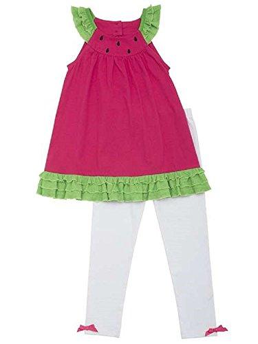 Rare Editions Baby Girls Watermelon Sleeveless Capri Set 24 Months Fuchsia