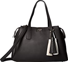 We truly love this chic GUESS® Trudy Girlfriend Satchel. Made of synthetic leather.  Top-zip closure.  Dual flat carrying handles. Removable and adjustable crossbody strap.  Exterior features two top-entry slip pockets.  Flat base with protec...