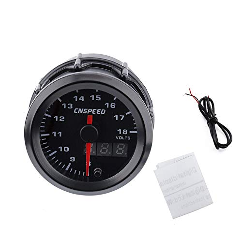 (Car Volts Gauge CNSPEED 7 Colors LED Digital Pointer Auto Car Digital Voltmeter Volts Gauge Meter Racing Car Volt Meters)