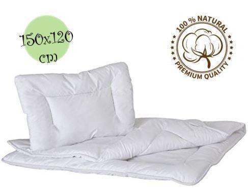 Weicher antiallergischer Bettedeckenbezug 150/x 120/cm mit Kopfkissen f/ür Kleinkinder-Bett