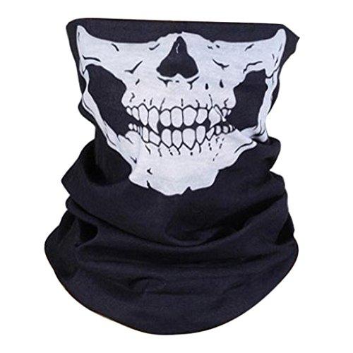 Sunward Black Seamless Skull Face Tube Mask Multifunctional Magic Scarf