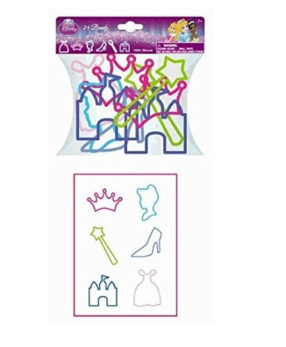 24 Pc Disney Princess Silly Shaped Bandz