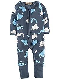 BIG ELEPHANT Baby Boys1 Piece Long Sleeve Sleepwear Zipper Closure Romper 2Y5CRXIX
