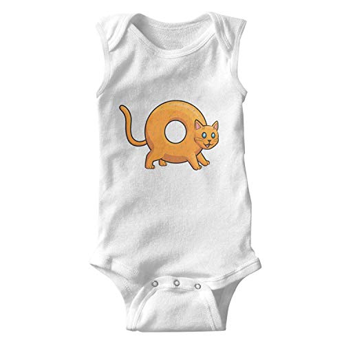 Doggie Bagels - Sleeveless Baby Girl Clothes Donut Bagel Cat Neutral Bodysuit