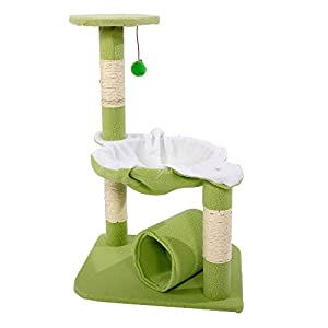 """M51 28"""" Cat Tree Tower Condo Sisal Scratcher Play Furniture Bed well-wreapped"""