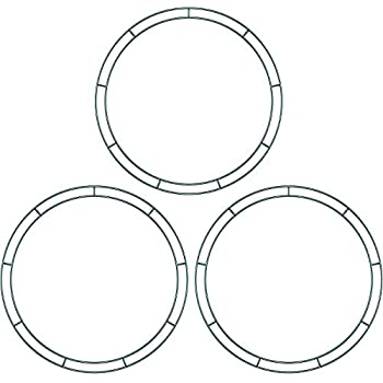Amazon Com Sumind Flat Wire Rings Wire Wreath Frame Wire Wreath