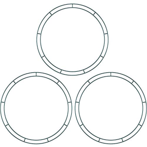 Sumind Flat Wire Rings Wire Wreath Frame Wire Wreath Making Rings for New Year Valentines Decoration (3 Pieces, 10 ()