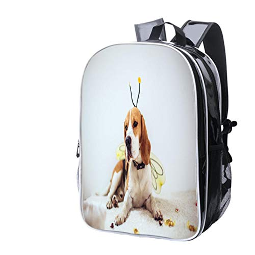 High-end Custom Laptop Backpack-Leisure Travel Backpack Beagle Dog in a bee Costume Water Resistant-Anti Theft - Durable -Ultralight- -