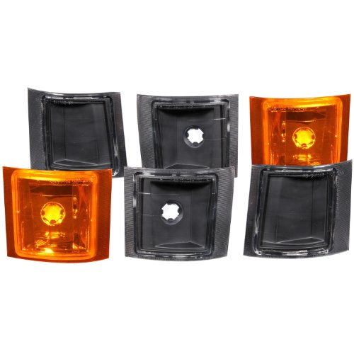 Chevrolet Tahoe Cornering Light (Anzo USA 521033 Chevrolet Black 6 Pcs(4 White 2 Yellow) Cornering Light Assembly - (Sold in Pairs))