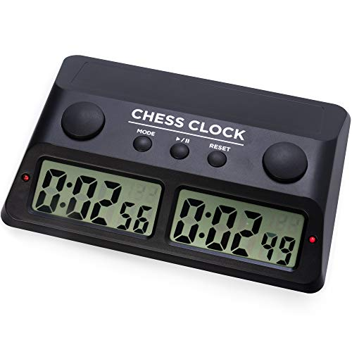 Digital Chess Clock   Customizable Chess Timer for Professional, Tournament Play   Incremental Time Control Fischer Clock   Also Great for Scrabble, Shogi, Go, and Other Competitive Board Games