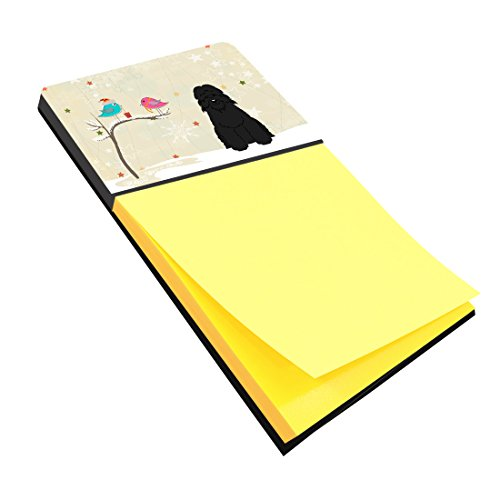 Caroline's Treasures Christmas Presents between Friends Bouvier des Flandres Sticky Note Holder, Multicolor (Bouvier Des Flandres Note)