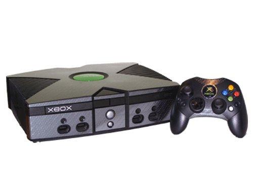 Microsoft Xbox Skin (Original) - NEW - CARBON FIBER system skins faceplate decal mod ()