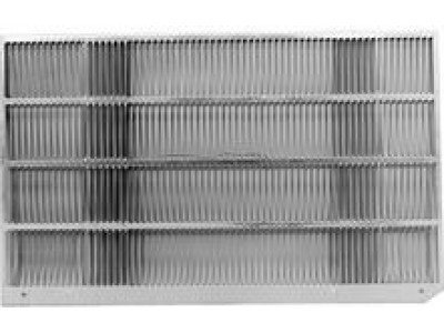 Rear Wall - Ge RAG13A Aluminum Rear Grille for J Series Wall Case